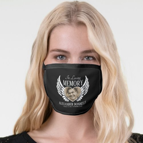 Remembrance Memorial Funeral Face Mask