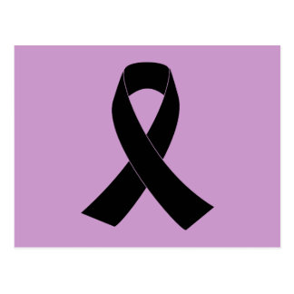 Remembrance, Mourning Black Awareness Ribbon Postcard