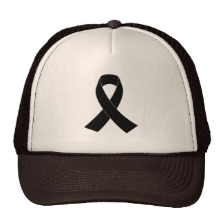 Remembrance, Mourning Black Awareness Ribbon Trucker Hat