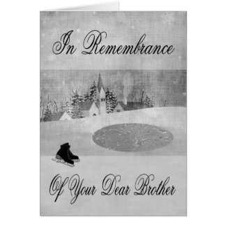 Remembrance Of Brother At Christmas Greeting Card
