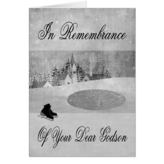 Remembrance Of Godson At Christmas Greeting Card