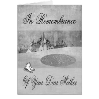 Remembrance Of Mother At Christmas Greeting card