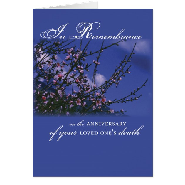 Remembrance on anniversary of loved one s death card zazzle