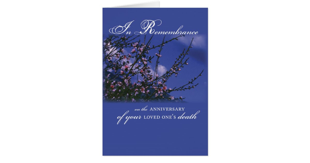 remembrance on anniversary of loved one u0026 39 s death card