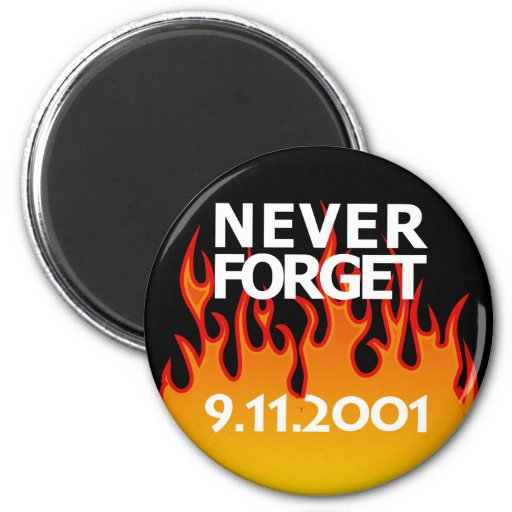 Remembrance Sept 11 2001 2 Inch Round Magnet