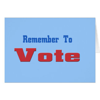Rememer to Vote Card