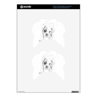 Remiende un arte del dibujo del perrito del mando xbox 360 skins