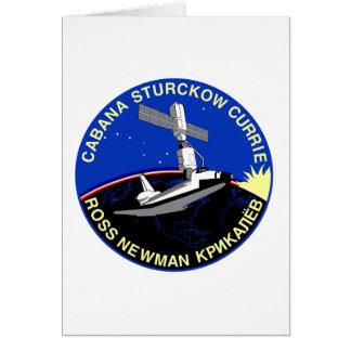 Remiendo 1998 del misión en la que participa un tr tarjeta de felicitación