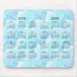 Remiendo 2015-2016 de la turquesa calendario de 2 mouse pad