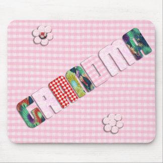 """Remiendo """"abuela"""" en rosa a cuadros alfombrillas de ratones"""