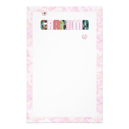 """Remiendo """"abuela"""" en rosas rosados  papeleria"""