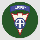 remiendo aerotransportado del bolsillo de 82d LRRP Pegatina Redonda