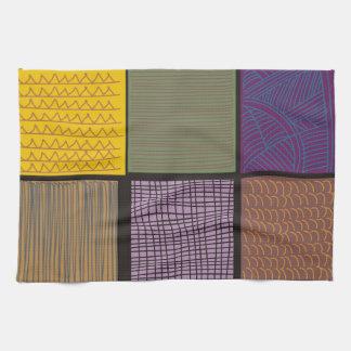 Remiendo africano abstracto del edredón toallas
