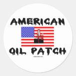 Remiendo americano del aceite, pegatina del campo
