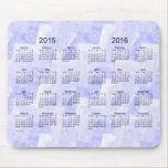 Remiendo azul 2015-2016 calendario Mousepad de 2 Tapetes De Raton