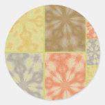 Remiendo bohemio colorido etiquetas redondas