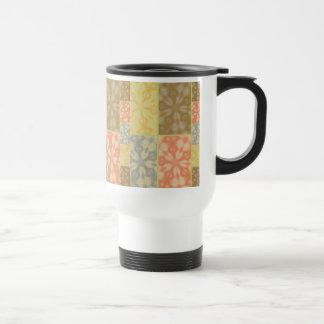 Remiendo bohemio colorido tazas de café