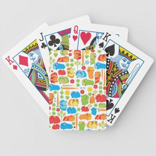 Remiendo brillante del conejillo de Indias Baraja Cartas De Poker