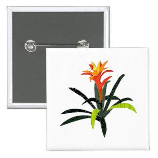 Remiendo Bromeliad tropical Pin