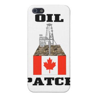 Remiendo canadiense del aceite, plataformas petrol iPhone 5 fundas