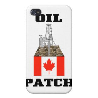 Remiendo canadiense del aceite, plataformas petrol iPhone 4 carcasa
