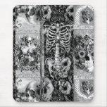Remiendo, collage del cráneo alfombrilla de ratón