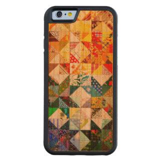 Remiendo colorido del diseño funda de iPhone 6 bumper cerezo
