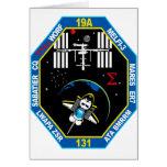 Remiendo de grupo de la carga útil del STS 131 Felicitacion