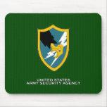 Remiendo de hombro de la agencia de seguridad del  tapetes de ratón