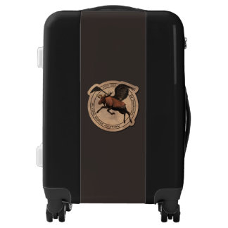 Remiendo de la aviación de los alces del vuelo maletas