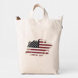 Remiendo de la bandera americana bolsa de lona duck