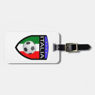 Remiendo de la bandera de Italia/de Italia - con e Etiquetas Maleta