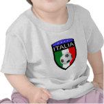 Remiendo de la bandera de Italia/de Italia - con e Camiseta