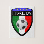 Remiendo de la bandera de Italia/de Italia - con e Puzzles