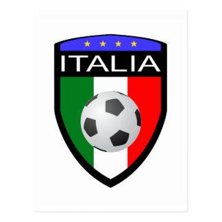 Remiendo de la bandera de Italia/de Italia - con e Tarjetas Postales