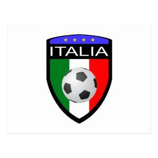 Remiendo de la bandera de Italia/de Italia - con e Tarjeta Postal