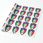 Remiendo de la bandera de Italia/de Italia - con Papel De Regalo
