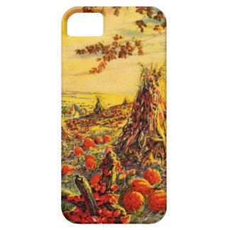 Remiendo de la calabaza de Halloween del vintage c iPhone 5 Cárcasa