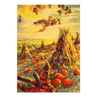 Remiendo de la calabaza de Halloween del vintage c Anuncios