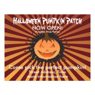 Remiendo de la calabaza de Halloween Flyer Personalizado