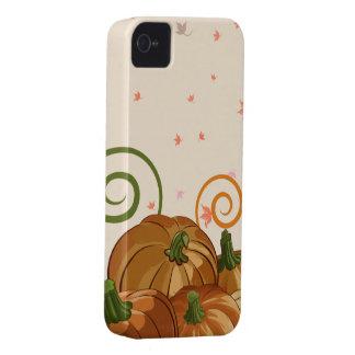Remiendo de la calabaza iPhone 4 Case-Mate cobertura