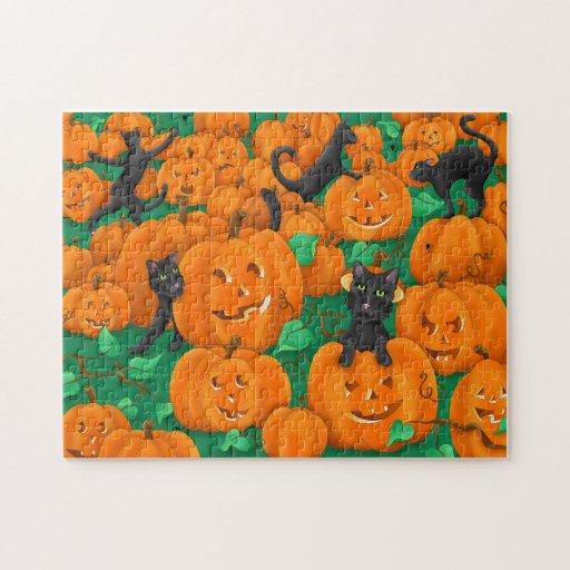 Remiendo de la calabaza puzzles con fotos