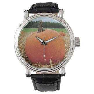 Remiendo de la calabaza reloj de mano