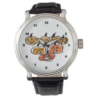 Remiendo de la calabaza relojes de mano