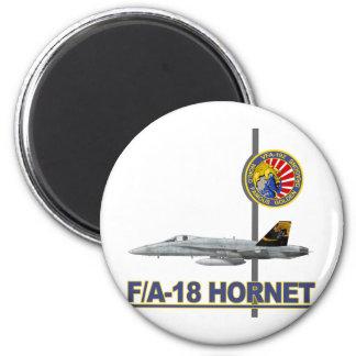 Remiendo de la escuadrilla de VFA-192 GOLDENDRAGON Imán Redondo 5 Cm