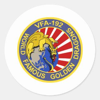 Remiendo de la escuadrilla de VFA-192 Pegatina Redonda