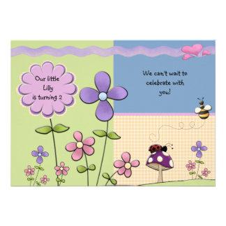 Remiendo de la flor - invitación de la fiesta de c