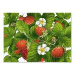 Remiendo de la fresa invitación 13,9 x 19,0 cm