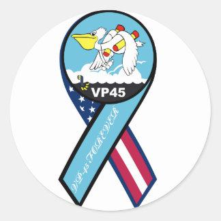 remiendo de la marina de guerra vp45 etiquetas redondas