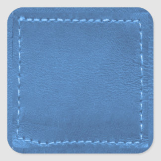 Remiendo de la mirada del cuero del vintage - pegatina cuadrada